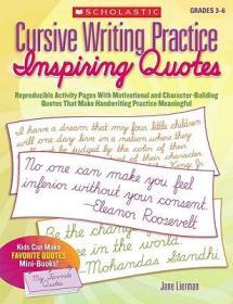 CursiveWritingPractice:InspiringQuotes