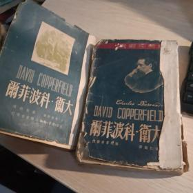 """极稀见民国初版一印""""精品世界文学名著""""《大卫 科波菲尔》(插图版),狄更斯 著;董秋斯 译,32开平装,上下二厚册全。""""骆驼书"""