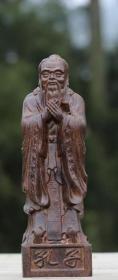 越南天然沉香木木雕摆件孔子像