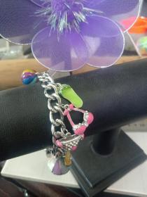 收藏饰品合金手链09 各种造型的镶钻合金吊坠,品相保存的极好