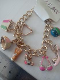 收藏饰品合金手链 各种造型的镶钻合金吊坠,品相保存的极好03