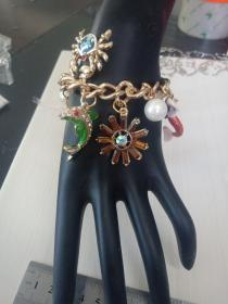 收藏饰品合金手链03 各种造型的镶钻合金吊坠,品相保存的极好