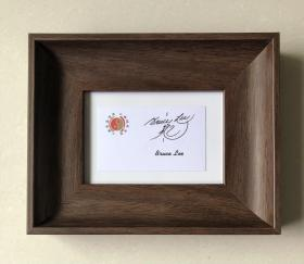 李小龙签名卡片 bruce lee