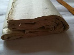 约民国前后老竹纸修书纸拓片纸54张,装裱修复写字不错!便宜卖了