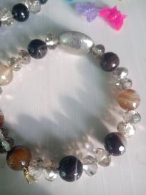 天眼,玛瑙,半宝石,水晶手链,