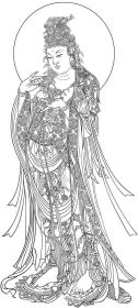 世遗雕版印刷 杨枝观音  非遗大师陈义时雕刻 可自行装裱 法像庄严 包邮