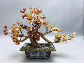 日本回流民国时期文房梅花盆景