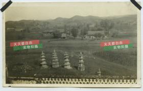 民国长江扬子湖北宜昌天然塔等老照片2张,泛银
