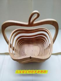 折叠式水果竹篮