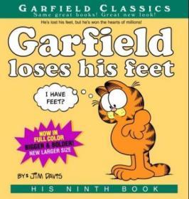 Garfield Loses His Feet: His 9th Book加菲猫漫画#9,英文原版