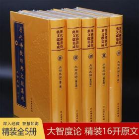 大智度论 精装16开全5册大字繁体竖版 历代佛教经典文献集成