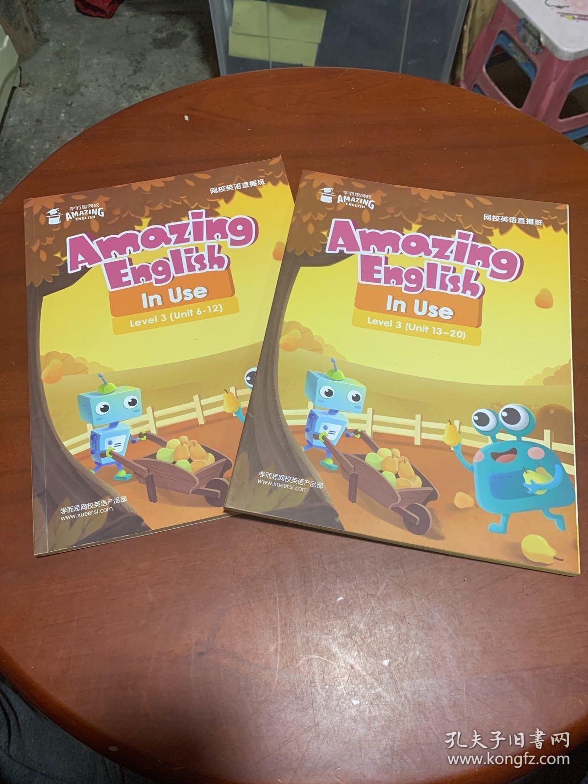 Amazing English In Use Level 2 (Unit 6-12、13-20) 两本合售