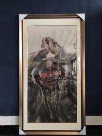 南海岩男,1962年生,山东省平原县人。现为北京画院专职画家,国家一级美术师,中国美术家协会会员。自幼酷爱绘画,27岁时参加大陆、香港和台湾三地当代中国水墨新人展,获新人优秀奖;同年在牡丹杯国际书画大奖展中获二等奖;1993年获北京市首届国际绘画书法艺术大展国画三等奖并参加华夏百家赴台精品展,在中国画坛初露锋芒。1994年入北京画院,深。 尺寸:173/87