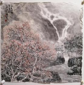 周沧米山水画老软片,包老包手绘。