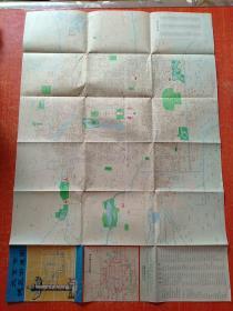 北京市城区街道图 附:北京市交通路线示意图【1982年】
