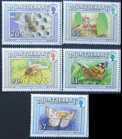 蒙特塞拉特昆虫蝴蝶邮票