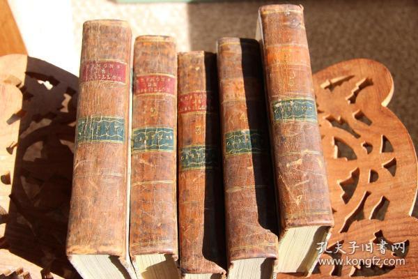 Sermons de M. Massillon Eveque de Clermont  马西永讲道集 五册  1776年出版