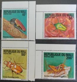 马里昆虫邮票4全