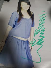 辛晓琪亲笔签名海报