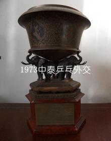 1973年中泰乒乓球友谊赛奖杯(中泰乒乓外交纪念)