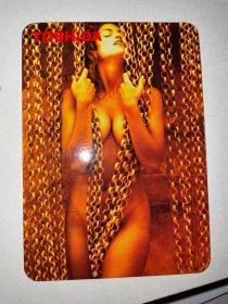 TOSHIBA (东芝美女年历片)—2006年 年历片 1张   年历卡 (少见收藏珍品)全品无折痕 !品相难得少见 !