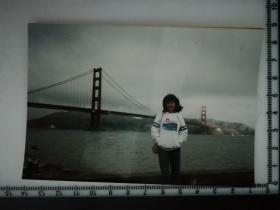 20201213-6 年代老照片  美女 金门大桥