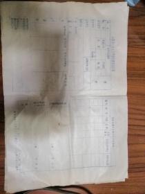 山东省一九七七年招生报名登记表
