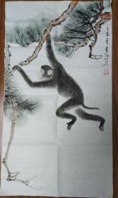 四川成都已故画家周北溪 猴