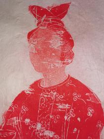 唐代执鸡首壶侍女图