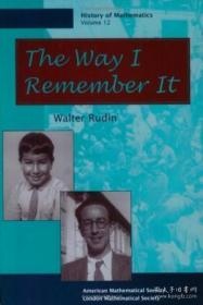 The Way I Remember It (history Of Mathematics, V. 12)