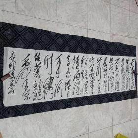 书法原作177……毛主席诗词(178CM*48CM):低价出售