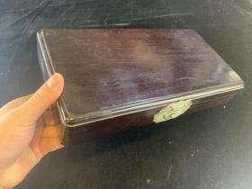 【铁牍精舍】【文房佳品】清代红木拜帖盒,包浆莹润,做工极佳,品相完好,30.5x16.5x5.5cm