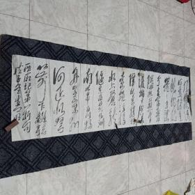 书法原作181……毛主席诗词(178CM*48CM):低价出售