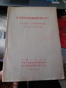 毛主席的革命路线胜利万岁!中央首长关于河南问题的指示及赴京汇报纪要汇编