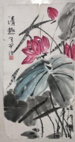 字画1553  约35*66厘米 (桐陵 朱天甲)