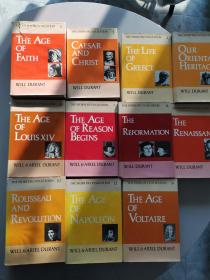 The Story of Civilization (by Will Durant and Ariel Durant) a complete set of 11 volumes 威尔·杜兰特夫妇 巨著《世界文明史》英文原版 全套11卷,布面精装本, 美国出版社Simon and Schuster权威经典老版本