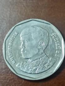 泰国钱币:5泰铢硬币1枚(现任国王时代硬币)