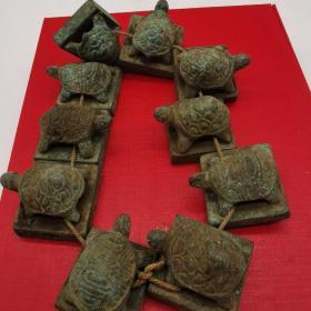 龟钮铜印章十枚