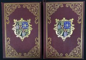 限量编号本:The Diary of John Evelyn  (全两册) 限印1244套,此套编号106 ,出版商经理亲笔签名,1901年豪华皮面精装本 ,毛边本,手工毛边纸印刷(透光可见出版社章纹),上书口刷金 ,1901年老版书,生前未公开的回忆录系列丛书 约翰·伊夫林日记(全2卷) 查理二世宫廷装订大师装订版 真皮装订 书脊、封面多彩镶金图案 上书口刷金 毛边本 限量版1244套