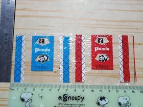 熊猫奶糖玻璃纸 两张