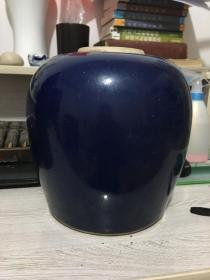 清代单色釉罐子
