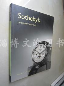 Sotheby's Important Watches (Hong Kong April 9'2007)