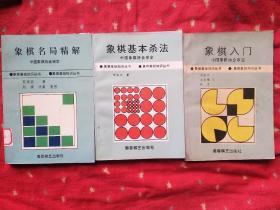 象棋基础知识丛书3本   名局精解 基本杀法 象棋入门