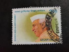 印度邮票(人物):1983年第七届不结盟首脑会议,新德里 1枚