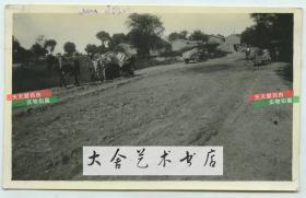 民国时期天津一带的村庄大路交通老照片.