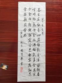 惠阳老年书画会员杨质华书法,34cm*95cm。