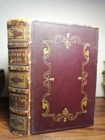 1835年 ITALY, A POEM BY SAMUEL ROGERS 含大量精美插图 漂亮烫金全皮装帧 三面刷金  20.3X13.7CM 有一副藏书票