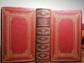 1872年  THE POETICAL WORKS OF SIR WALTER SCOTT 全皮装帧  烫金封面  三面刷金  插图版 16.8X11.3CM