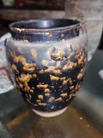 宋代吉州窑虎斑釉罐