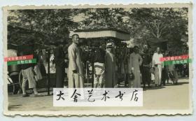 1937年街边的天津人老照片
